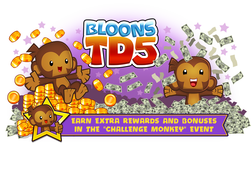 Bloons TD5 :: Update 3 15 is live now - CHALLENGE MONKEY EVENT!